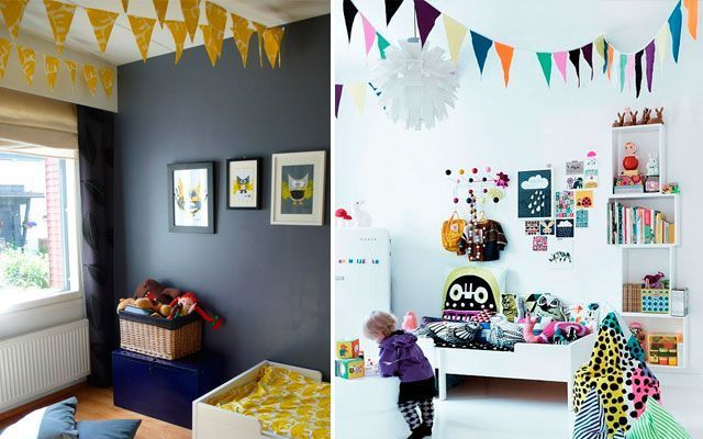 Çocuk odalarını süslemek için asılı süs eşyaları