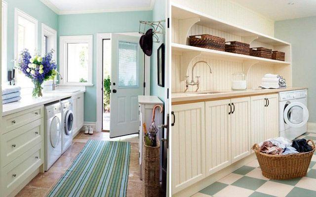 Çamaşır odasını dekore etmek için fikirler