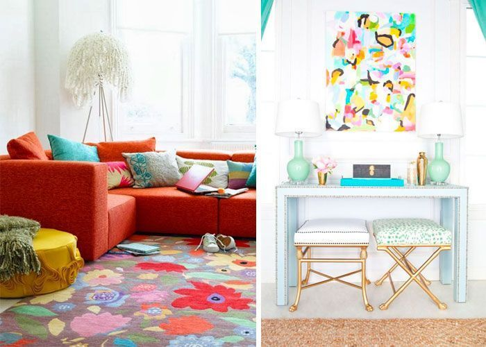 Bir yaz dekorasyonu için taze renkler