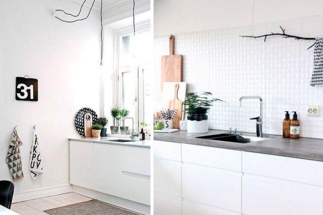 Mutfakları İskandinav tarzında dekore edin