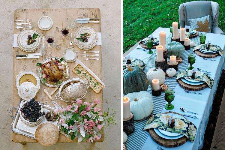 Sonbahar masalarını dekore etmek için fikirler