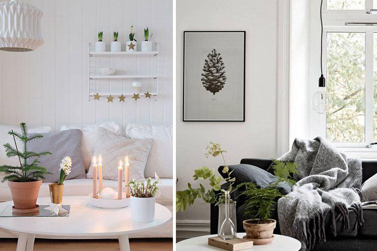 Kış oturma odası dekorasyonu