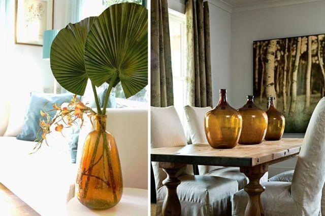 Damajuanas: dekorasyon için mükemmel tamamlayıcı