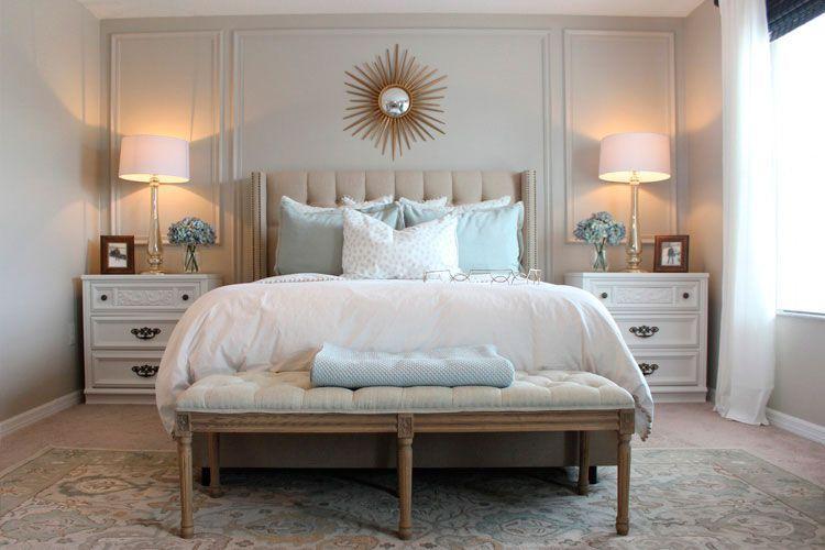 Ebeveyn yatak odası için başucu masaları