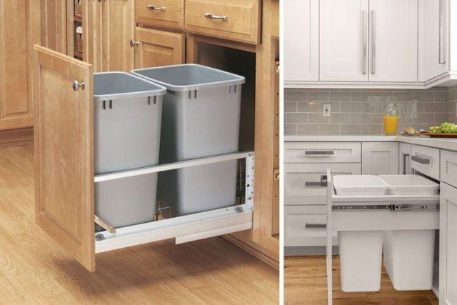Çıkarılabilir çekmeceler için çöp kutuları