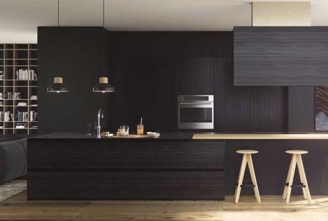Banyo ve mutfaklara uygulanan siyah renk