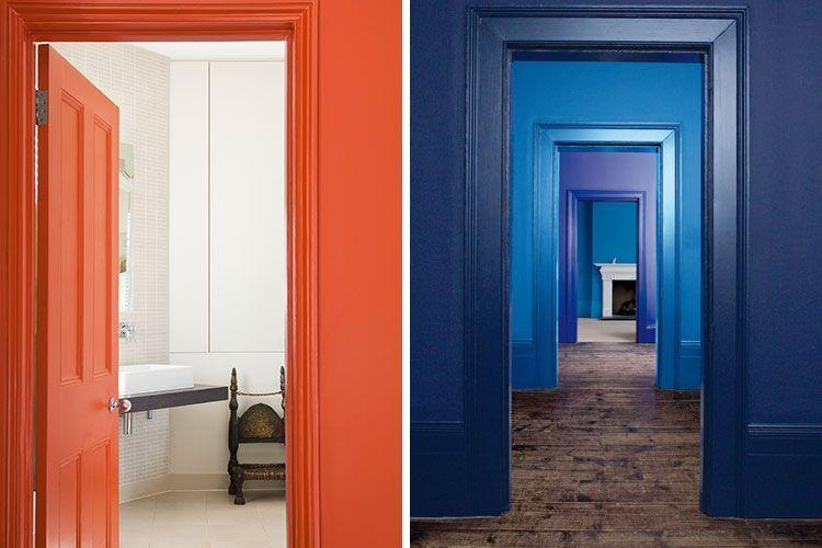 Duvarları ve doğramayı aynı renkle dekore edin