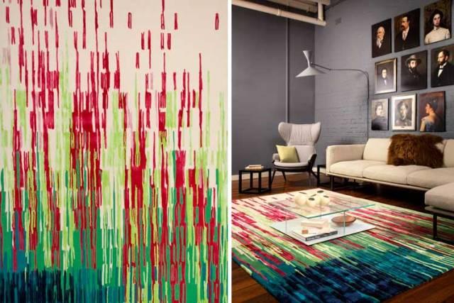 Renkli tasarımcı halıları