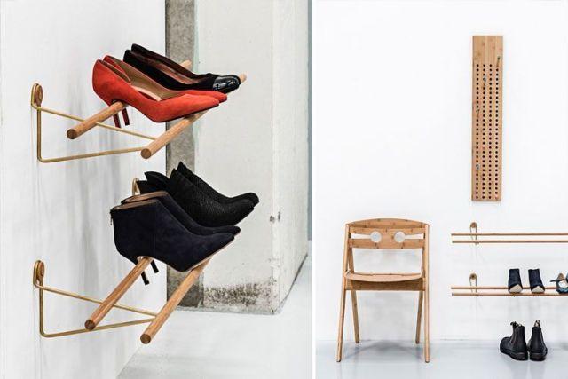 Tasarımcı ayakkabı rafları