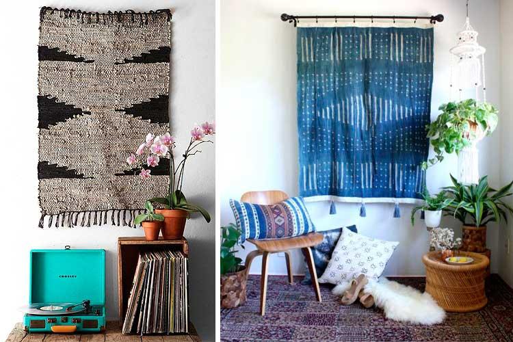 Duvarları halılarla nasıl dekore edilir