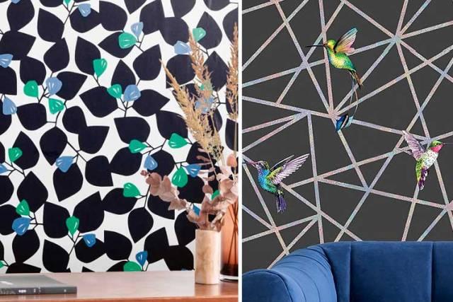 Siyah duvar kağıdıyla süslemek için fikirler