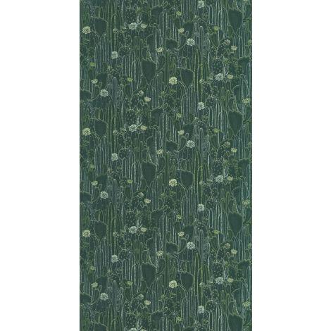 Décor papier peint CACTACEAE Vert émeraude