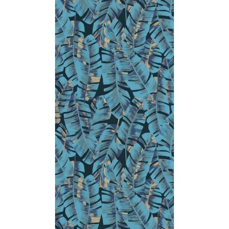 Décor papier peint Folium bleu turquoise