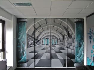 fresque murale moderne graff