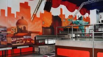 fresque murale personnalisée discotheque