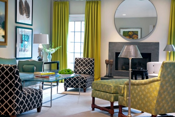 interior design living room decor Chartreuse Living Rooms - Decoholic