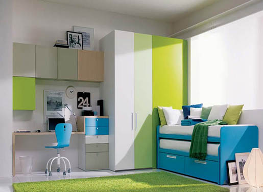 blue and green interior design ideas for teenage girl's rooms