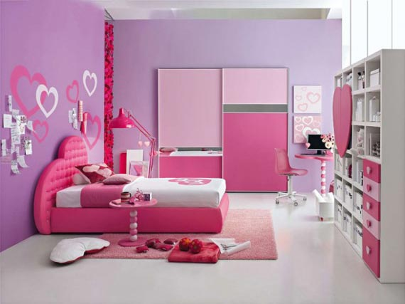 pink and purple dream interior design ideas for small teenage girls room