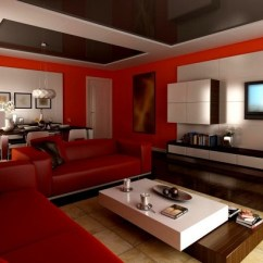 Black And Red Living Room Decorating Ideas Sofa For 100 Best Rooms Interior Design 25