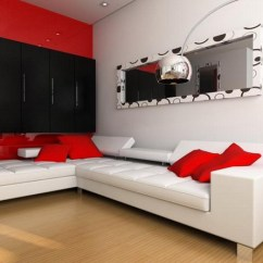 Black And Red Living Room Decorating Ideas Toy Storage For Uk 100 Best Rooms Interior Design 24