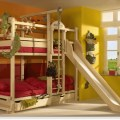 Bunk bed with slide by woodland children love bunk beds or loft beds
