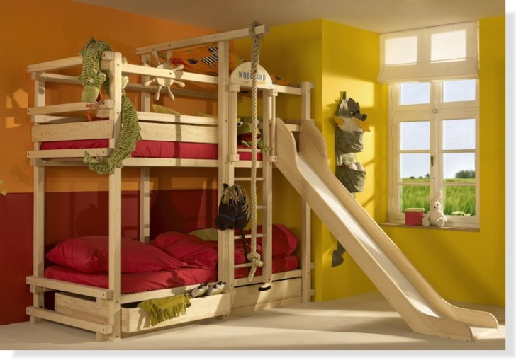 Bunk Beds With Stairs And Slide