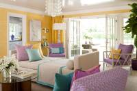 yellow-turquoise-purple-living-room- | For the Home ...