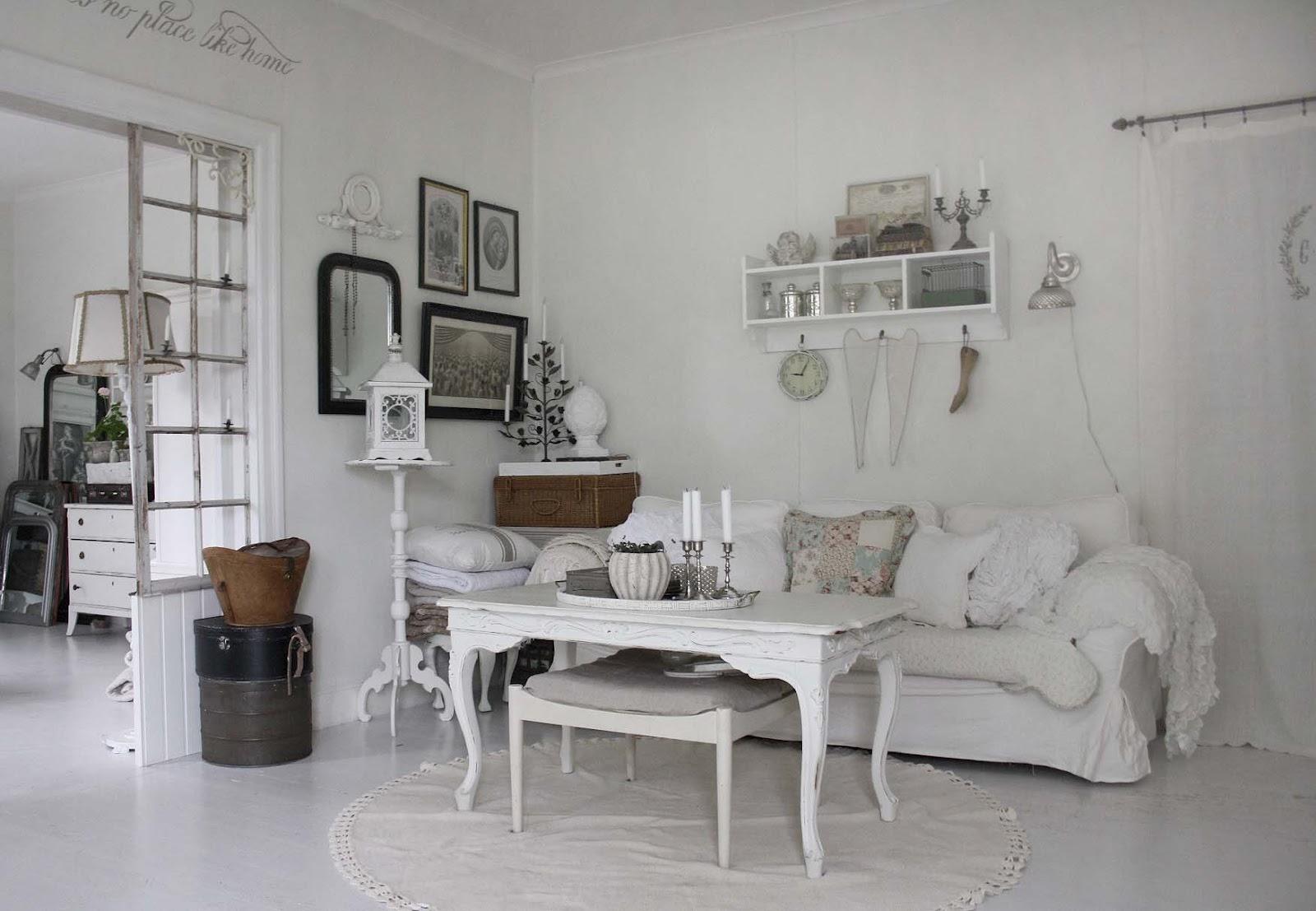 shabby chic living room decorating ideas open concept kitchen 37 dream designs decoholic 27 via girls vintage white chabby interior