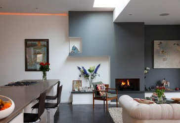 living room gray grey walls wall colors paint rooms accent modern painted dining decor interior colours combination kitchen decoration dark