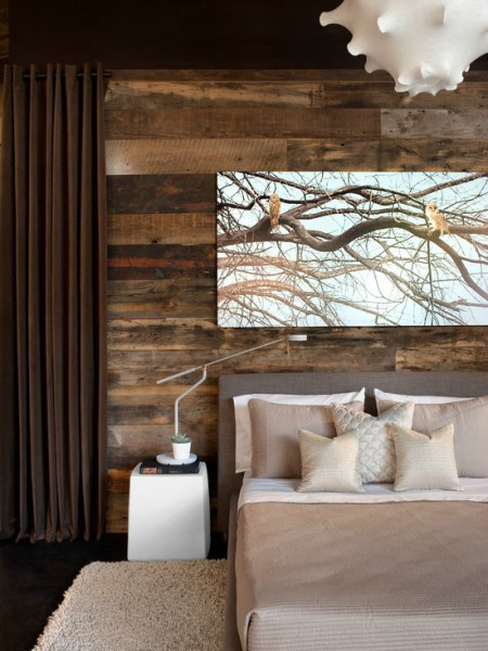 modern rustic bedroom Awesome Bedroom Accent Wall Color and Decorating Ideas