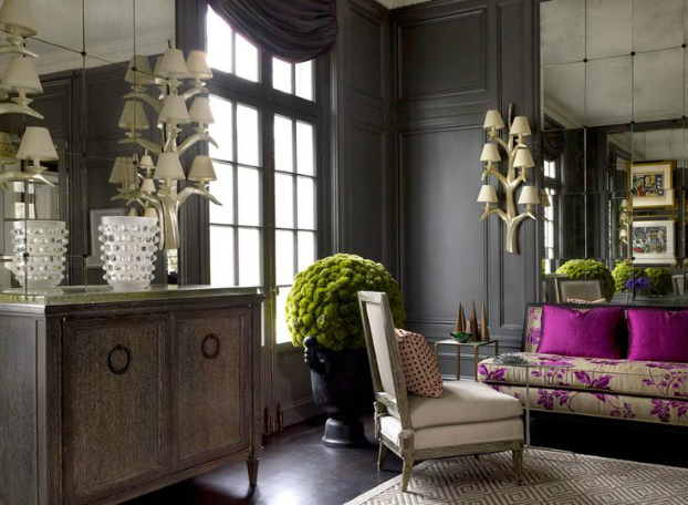 Living Room With Dark Dramatic Walls 30 Ideas  Decoholic