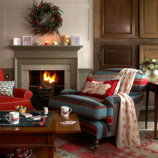 pictures of country living rooms shabby chic room with brown sofa 33 best christmas decorating ideas decoholic idea 2