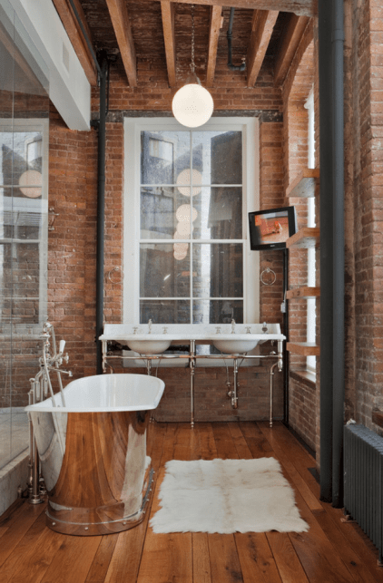 vintage industrial bathroom design