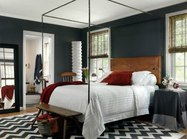 dark gray with brown bedroom color scheme