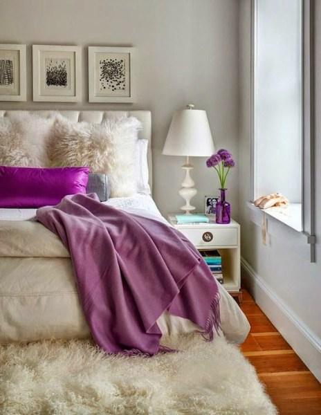 purple and gray bedroom color scheme 22 Beautiful Bedroom Color Schemes - Decoholic