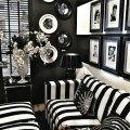 Old holywood glam black white home decor trends 2014