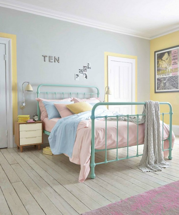 pastel hues bedroom color scheme