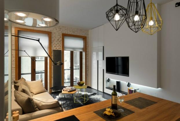 Contemporáneo de 40 metros cuadrados 430 pies cuadrados Apartamento 14