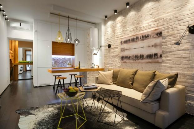 Contemporáneo de 40 metros cuadrados 430 pies cuadrados Apartamento 18