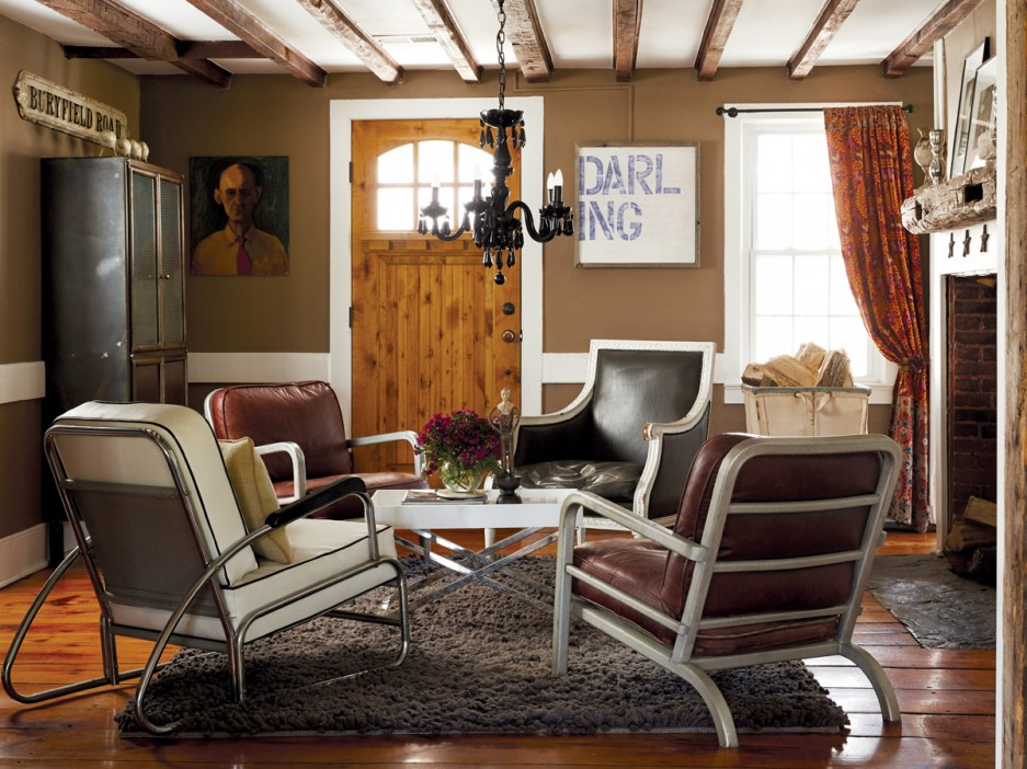 Rustic  Industrial Home With A Very Particular Design