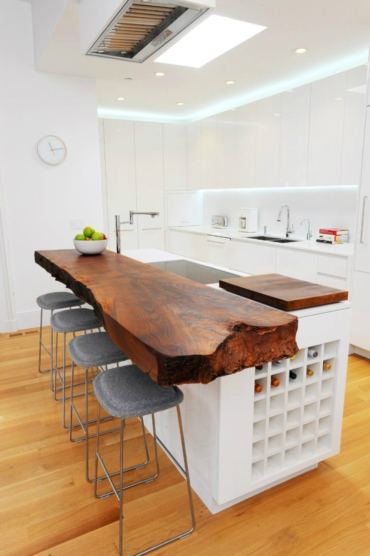 kitchen tabletops premade islands 44 reclaimed wood rustic countertop ideas decoholic