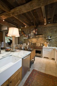 43 Kitchen Design Ideas with Stone Walls
