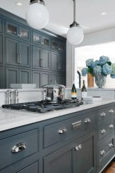 kitchen gray dark cabinets grey cabinet colors paint kitchens painted colour cupboards countertop decorating idea units counter countertops doors walls