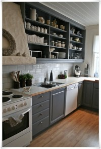 26 Kitchen Open Shelves Ideas - Decoholic