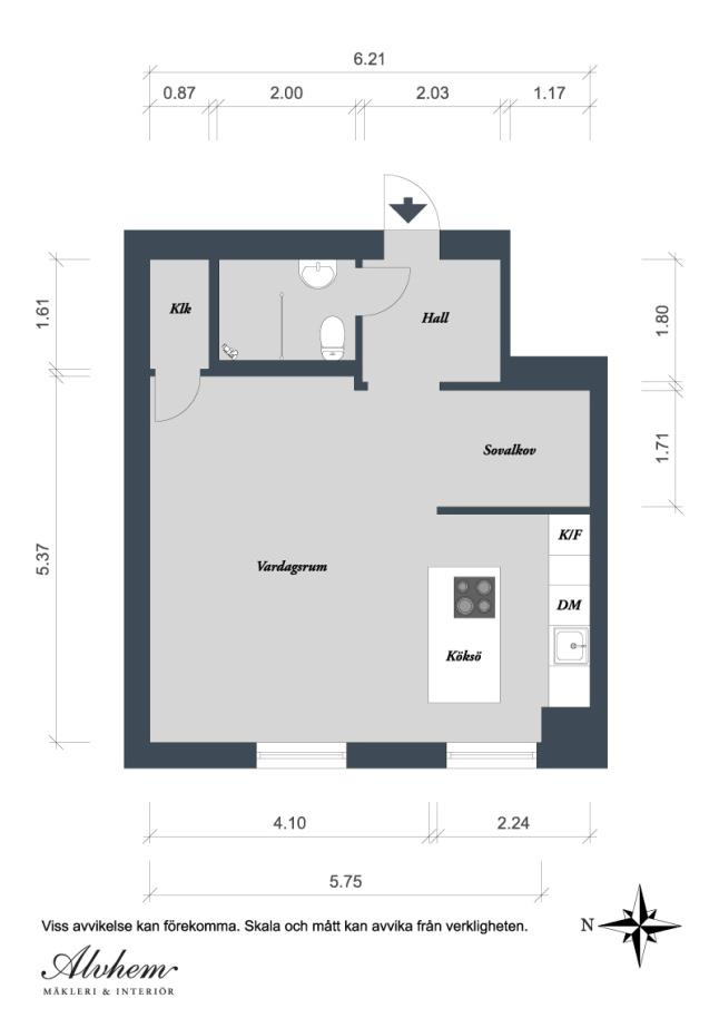 plan cuisine 12m2