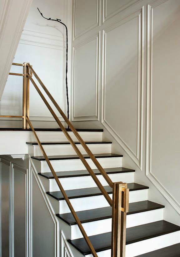 47 Stair Railing Ideas Interior Stair Rails Decoholic | Black Modern Stair Railing | Glass | Raised Ranch | Minimalist | Interior | Chris Loves