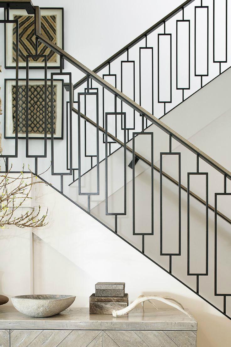 47 Stair Railing Ideas Interior Stair Rails Decoholic   Wood Stair Railings Interior   Residential   Craftsman Style   2Nd Floor   Paint   Rosette