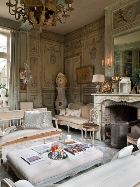 French Romance Through A Poetic Setting Of Antiques And Shabby Chic Furniture  Decoholic