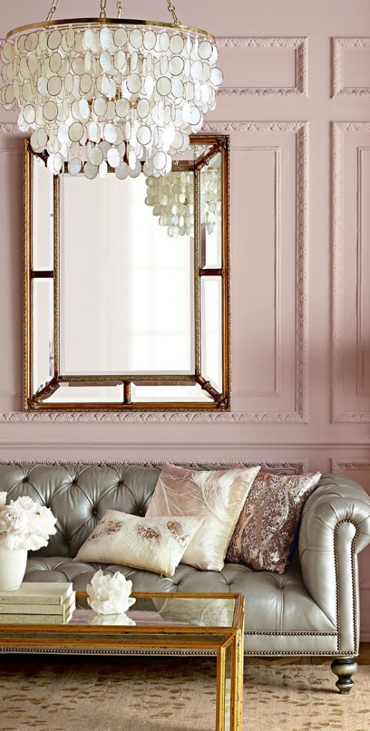 gray linen tufted sofa road seat goldwing how to decorate with blush pink - decoholic