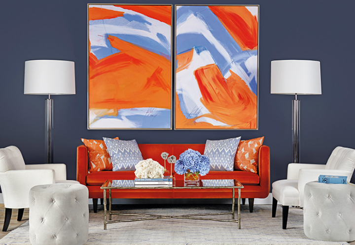 orange living room schemes value city furniture chairs 70 decorating ideas for every taste decoholic high fashion home tangerine blue